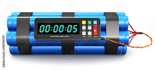 Fotografia  Time bomb with electronic timer clock