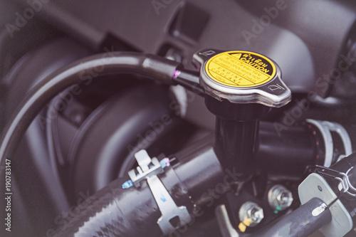 Fotografija  Metal cover on an radiator for engine cooling