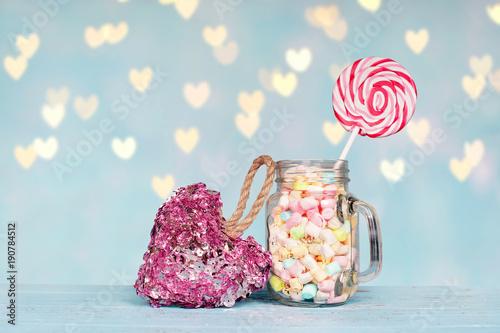 Foto op Aluminium Snoepjes bunte Süßigkeiten