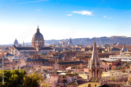 Poster Rome Aerial view of the Rome Italy. Beautiful cityscape view of Rome