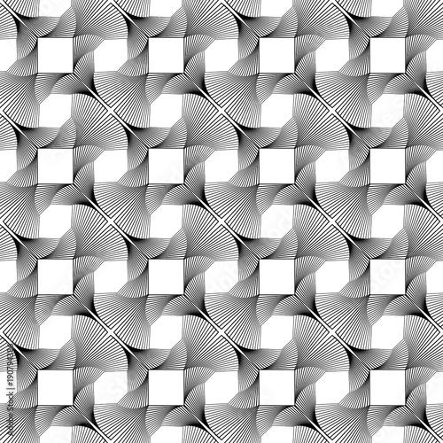 Design seamless monochrome decorative pattern © amicabel