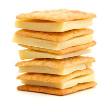 Delicious Crackers With Cheese...