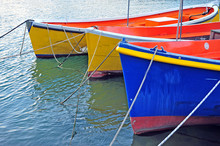 Colorful Fisher Boats In The Water