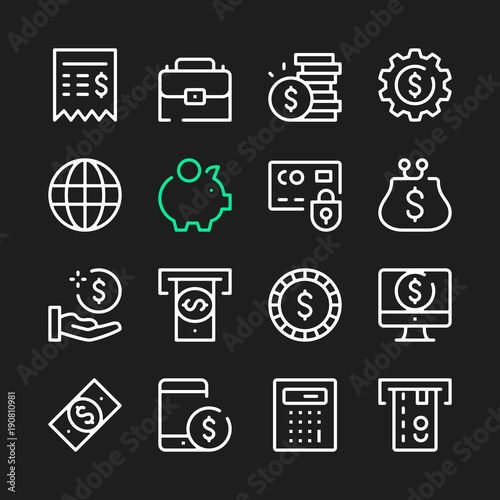 Photo Financial line icons