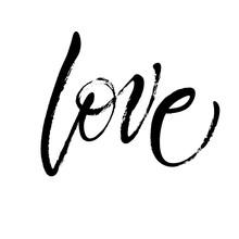 Handwritten Word Love In Expre...