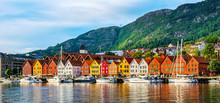 Bergen, Norway. View Of Histor...