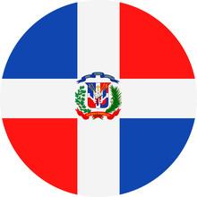 Dominican Republic Flag Vector...