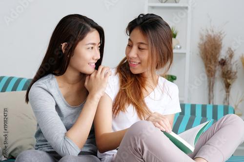 Asian lesbians explore
