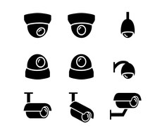 CCTV Camera Icons And Symbol I...