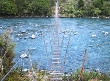 A Narrow Suspension Bridge Str...