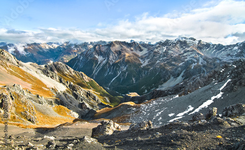 Looking west from Avalanche Peak in Arthur's Pass National Park, New Zealand Canvas Print