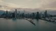 Chicago Skyline - Aerial in 4K
