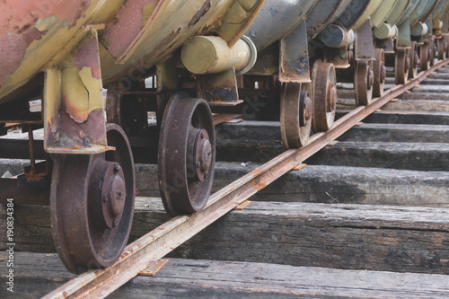 Photo Stands Ship Wheels of train