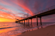 A Vibrant Sunset At Brighton J...