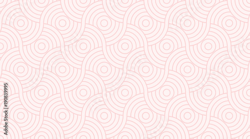 Pattern seamless circle abstract wave background stripe pink two tone colors and line Fototapet