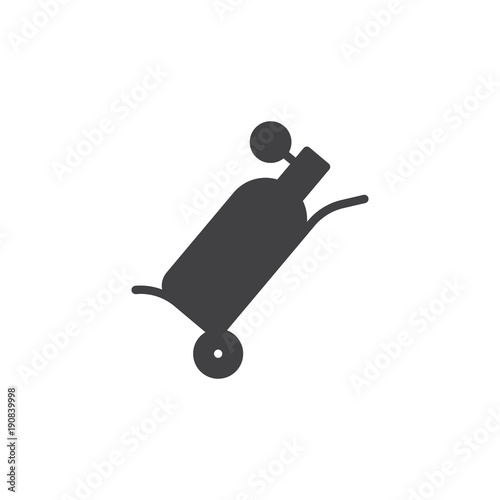 Oxygen Tank Icon Vector Filled Flat Sign Solid Pictogram Isolated