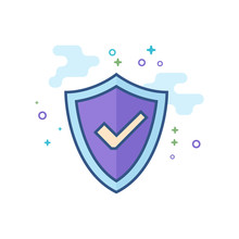Shield Icon With Checkmark In ...