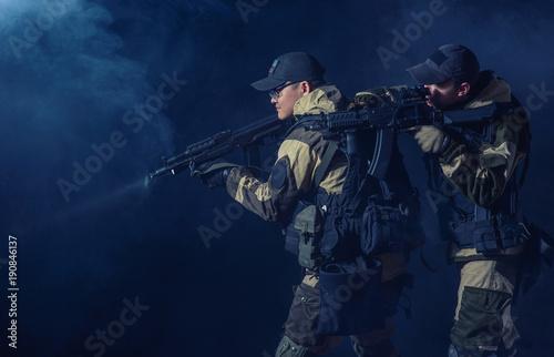 Fényképezés  soldiers of the elite special purpose units
