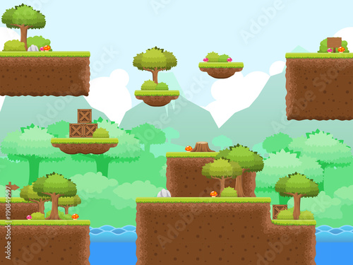 Photo  Forest Game Tileset