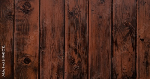 Tuinposter Hout Wood texture background, brown wood planks. Grunge washed wood wall pattern.