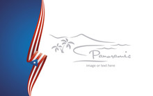 Puerto Rico Abstract Flag Brochure Cover Poster Background Vector