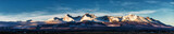 Fototapeta Fototapety z naturą - Panoramic shot of winter mountain landscape during sunset. High Tatras, Slovakia, from Poprad
