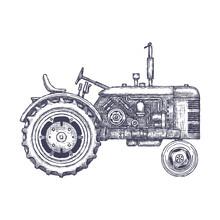 Vintage Agricultural Tractor, ...
