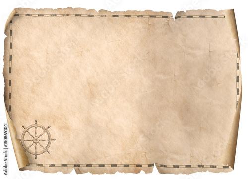 treasure map isolated background 3d illustration
