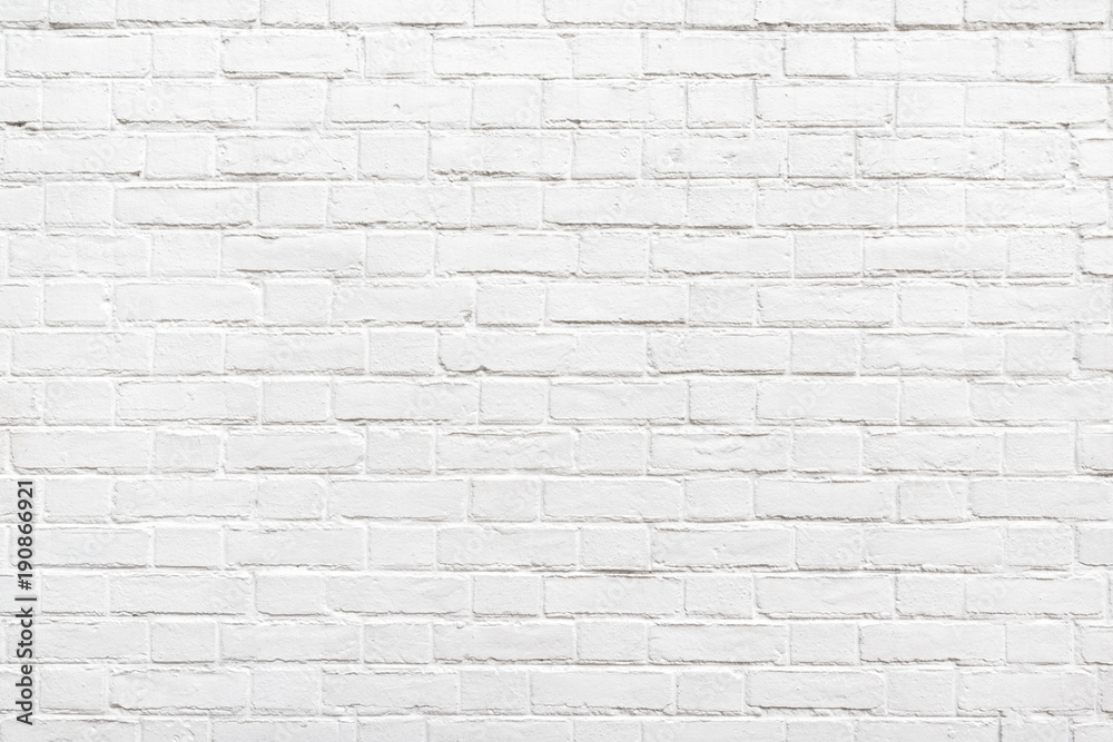 Fototapety, obrazy: Detail of a white brick wall texture