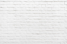 Detail Of A White Brick Wall Texture