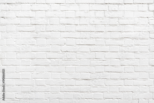 Deurstickers Baksteen muur Detail of a white brick wall texture