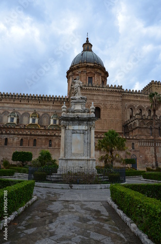 Garden Poster Palermo The Cathedral of Palermo