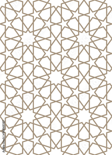 Seamless pattern in Moroccan style.