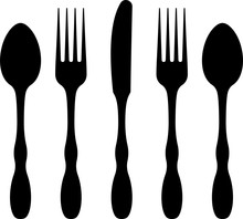 Cutlery Icon, Fork, Spoon And ...