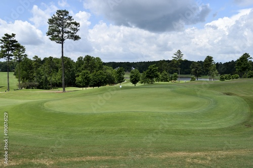 Slika na platnu Golf course fairway landscape