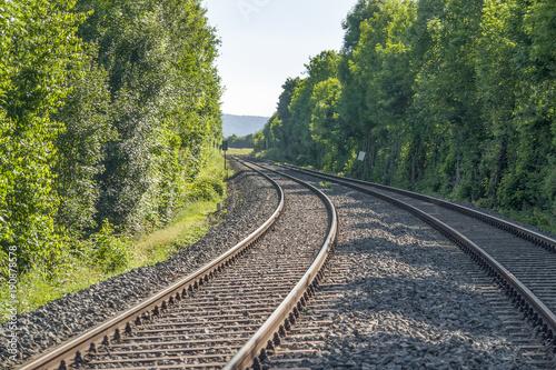 Staande foto Spoorlijn railroad track