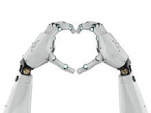 Robot Hand Heart Shape