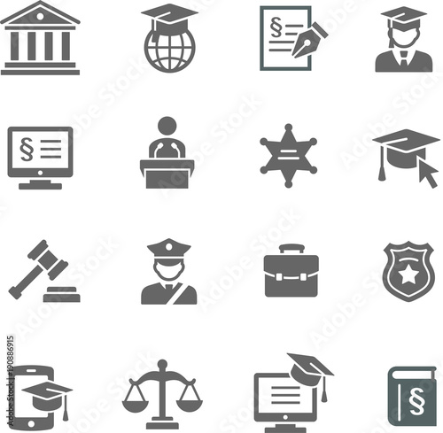 Fotografija  Law & Justice icon set