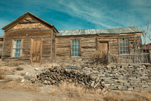 Old Weathered Wood Building Or...