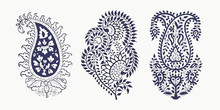Set Of 3 Paisley Elements. Tra...