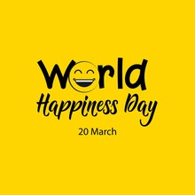 World Happiness Day Vector Template Design