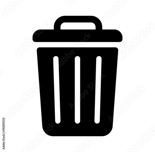 Fotografía trash can,garbage can,rubbish bin icon