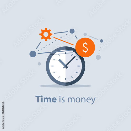 Obraz Long term investment, time is money concept, financial future planning, pension savings fund, finance solutions, time management - fototapety do salonu