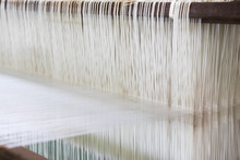 Closed Up Of Loom With White T...