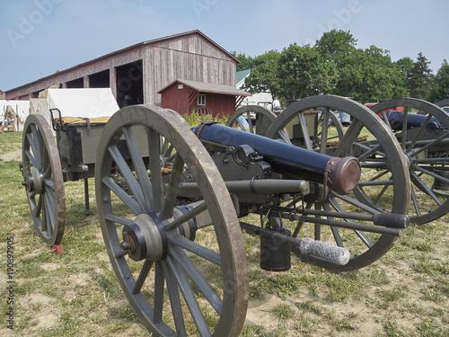 Fotografie, Tablou  American civil war cannon