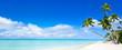 Sommer, Sonne, Strand und Meer als Panorama Hintergrund