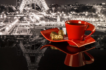 FototapetaCoffee on a background of Paris