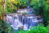 Huai Mae Khamin Waterfall at Kanchanaburi, Thailand