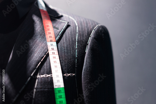 luxury suit in store Canvas Print
