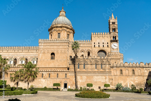 Garden Poster View of Palermo Cathedral church, Sicily, southern Italy